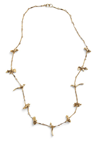 Take Me with Zoo Necklace - Gold, Casual