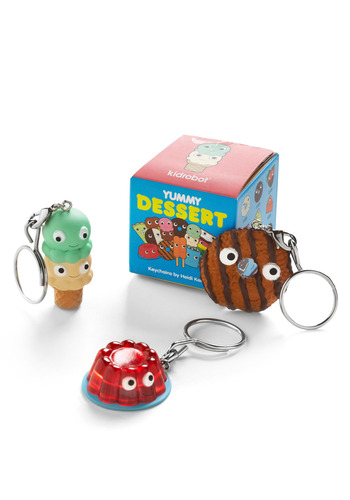 I'll Never Dessert You Keychains - Multi, Red, Green, Blue, Brown, Tan / Cream, Casual