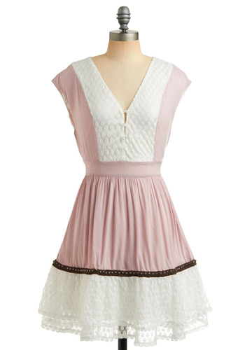 Gauze and Dolls Dress | Mod Retro Vintage Printed Dresses | ModCloth.com :  fluttery satin mauve snow white