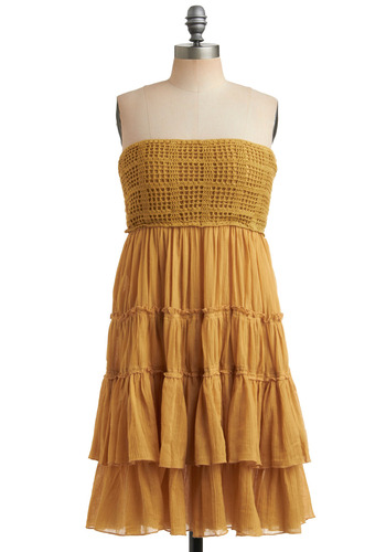 Feeling Dandelion Dress | Mod Retro Vintage Solid Dresses | ModCloth.com :  sundress sunny dandelion crocheted