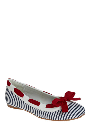 Chi-Town Flats | Mod Retro Vintage Flats | ModCloth.com :  flats faux leather nautical fabric