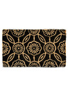 Now This, I Adore-mat - Black, Tan / Cream, Floral, Dorm Decor