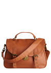 Pudding Pie Bag - Brown, Solid, Buckles, Pockets, Casual, Spring, Summer, Fall