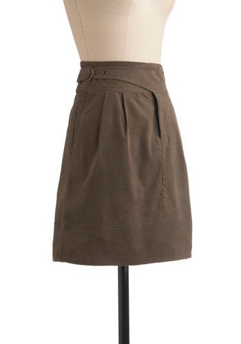 Strike a Corduroy Skirt | Mod Retro Vintage Skirts | ModCloth.com :  ash corduroy belted grommet