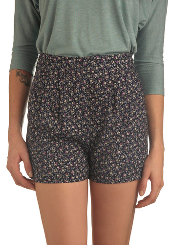 Gorgeous Greenhouse Shorts - Blue, Multi, Green, Floral, Pleats, Casual, Spring, Summer, Yellow, Purple, Pockets, Mid-length