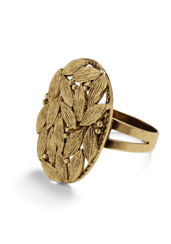 Leaf It to You Ring - Gold, Formal, Prom, Wedding, Party, Casual