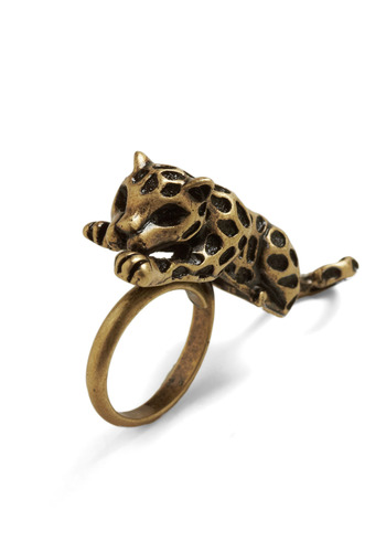 Quantum Leopard Ring - Gold, Party, Casual, Safari, Statement