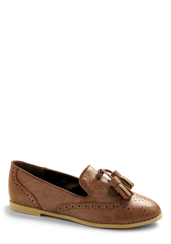 Highs and Loafers Shoe - Brown, Solid, Tassles, Casual, Menswear Inspired, Spring, Summer, Fall