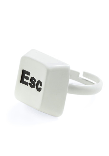 Great Escape Ring - White, Black, Casual