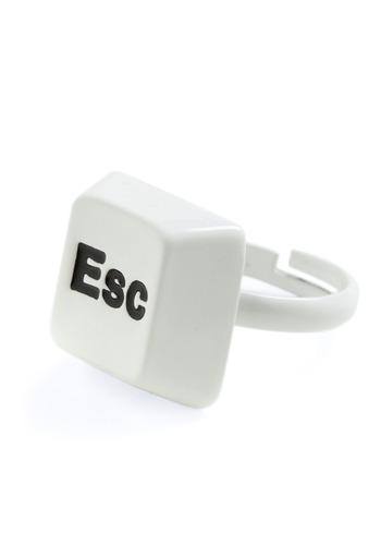 Great Escape Ring - White, Black, Casual