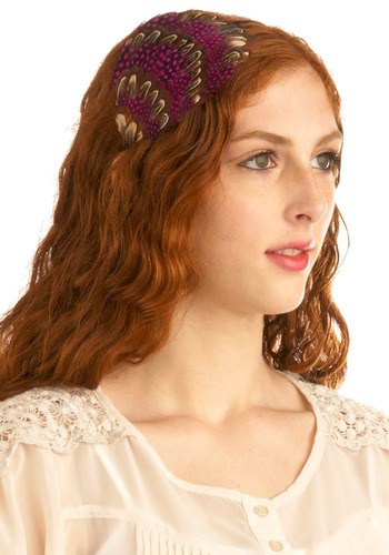 Plume and Aplomb Headband | Mod Retro Vintage Hair Accessories | ModCloth.com :  fascinator headband polka dot handmade
