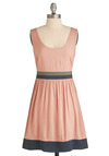 Pastel Me Everything Dress - Pink, Green, Blue, Cutout, Casual, A-line, Tank top (2 thick straps), Spring, Summer, Mid-length