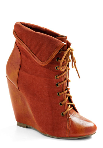 Spiced Cider Wedge - Orange, Solid, Casual, Spring, Summer, Fall