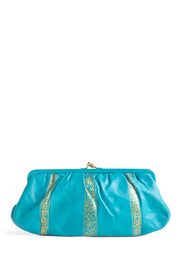 Vintage It's All Grecian Blue to Me Clutch