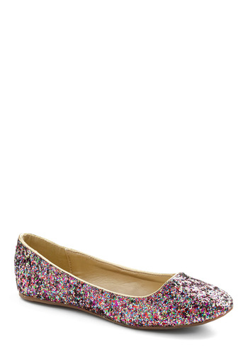 A Sparkle Between Us Flat - Pink, Multi, Party, Casual, Statement, Spring, Summer