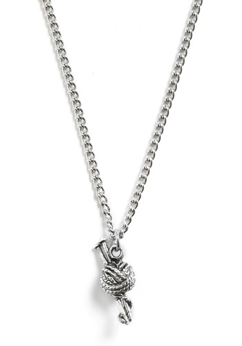 That's So Knit! Necklace - Silver, Chain, Party, Work, Casual