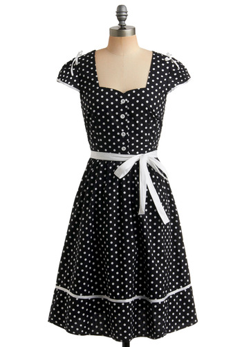 Sweet Dots Forever Dress | Mod Retro Vintage Printed Dresses | ModCloth.com