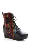 Una Mezcla Boot by Jeffrey Campbell - Black, Multi, Red, Orange, Green, Blue, Print, Casual