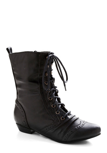 Kick It with Me Boot - Black, Casual