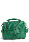 Viridian Sea Bag - Green, Solid, Exposed zipper, Party, Work, Casual, Spring, Summer