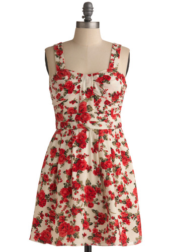 Tony s Flowers Dress Mod Retro Vintage Printed Dresses ModCloth com from modcloth.com