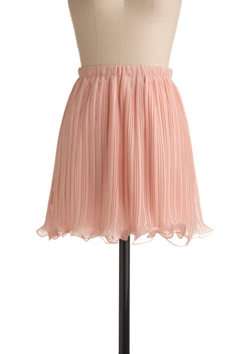Featured Dancer Skirt | Mod Retro Vintage Skirts | ModCloth.com :  lettuce edged ballerina inspired chiffon pleated