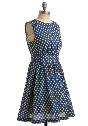 Too Much Fun Dress in Marine | Mod Retro Vintage Printed Dresses | ModCloth.com