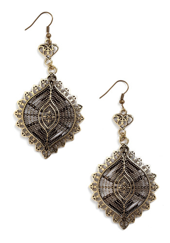 Have Your Filigree Earrings - Gold, Cutout, Party, Work, Casual