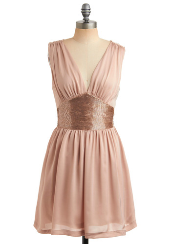 Bead We Say More Dress - Pink, Gold, Solid, Beads, Special Occasion, Wedding, Party, Casual, A-line, Sleeveless, Spring, Summer, Show On Featured Sale, Show On Featured Sale, Short
