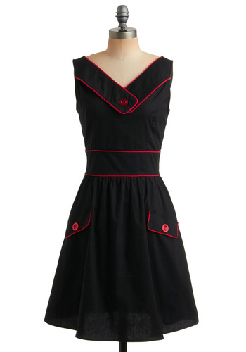 A Cherry Good Day Dress | Mod Retro Vintage Printed Dresses | ModCloth.com :  retro licorice button collar day dress