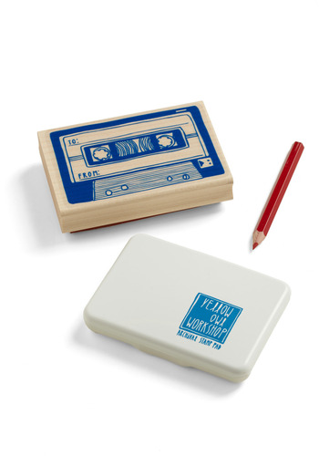 Ink of Me Stamp Set in Cassette - Blue, Party, Work, Casual, Handmade & DIY