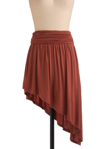 Functionally Fabulous Skirt - Brown, Solid, Casual, Strapless, Spring, Summer, Short