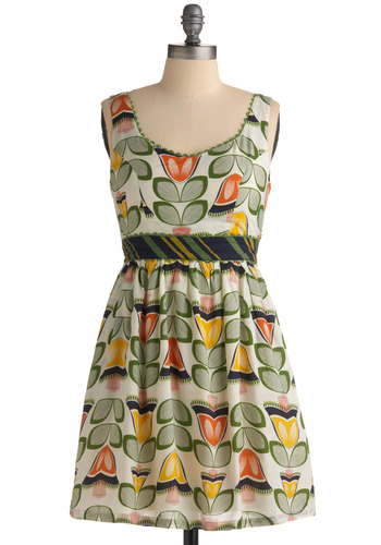 Back in the Game Dress in Dutch Darling | Mod Retro Vintage Printed Dresses | ModCloth.com :  tulip bust cups summer dress side pockets