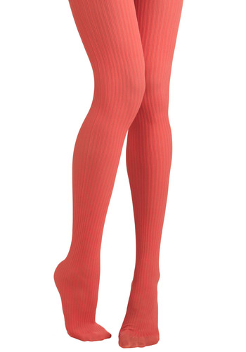 Front of the Line Tights in Sorbet - Pink, Solid, Stripes, Party, Work, Casual