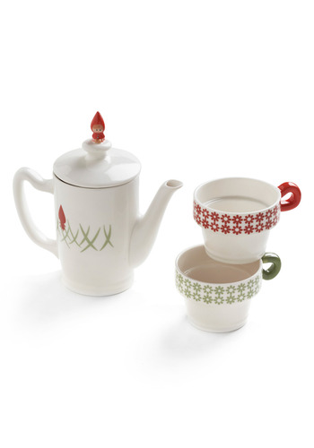 Once Upon a Teatime Set | Mod Retro Vintage Kitchen | ModCloth.com :  little red riding hood cheery cup ceramic