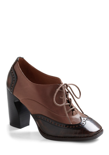 Head of the Classic Heel by Jeffrey Campbell - Brown, Party, Work, Casual, Menswear Inspired