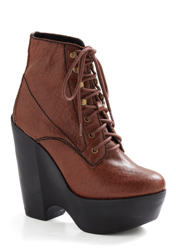 Hayes Valley Boot by Jeffrey Campbell - Brown, Solid, Casual