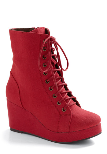 The Last Strawberry Boot by Jeffrey Campbell - Red, Solid, Casual