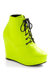 Highlight of My Life Bootie - Green, Solid, Casual, Wedge