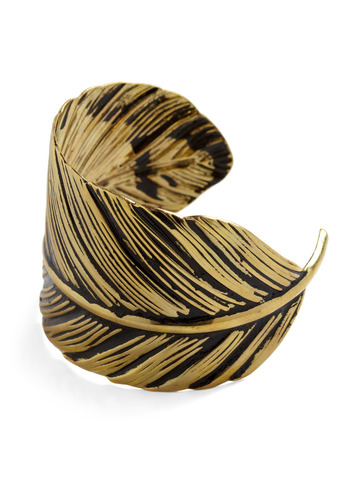 Alto-feather Fun Cuff - Gold