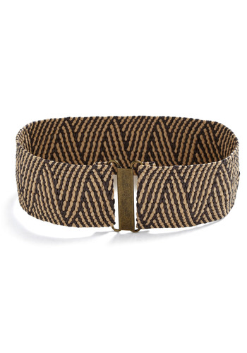 Be-weave It or Not Belt - Brown, Tan, Woven, Casual