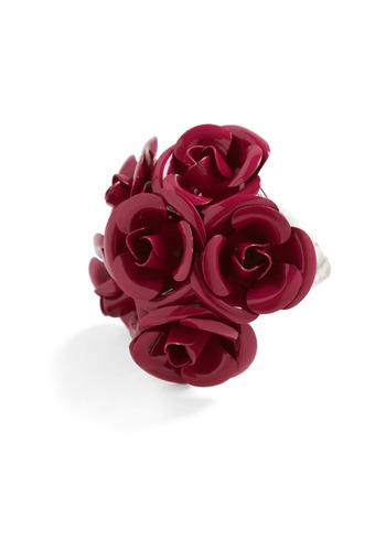 Every Ring is Coming Up Roses - Red, Flower, Party, Casual, Statement