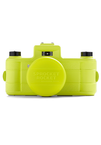 Sprocket Rocket SUPERPOP Camera in Yellow by Lomography - Yellow, Vintage Inspired