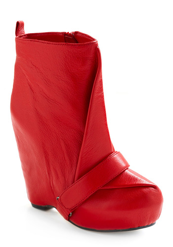 Red Your Mind Boot by Senso Diffusion - Red, Solid, Casual