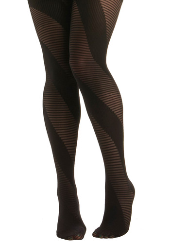 Helix the Cat Tights - Black, Stripes, Party, Casual