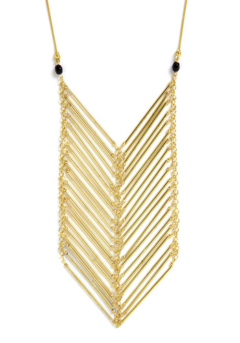 Style Points Necklace - Gold, Beads, Chain, Party, Casual, Statement
