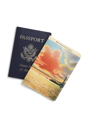 Decades of Destinations Passport Cover in Byways - Multi, Orange, Green, Blue, Print, Travel, Travel