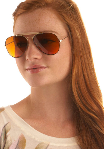Hip Hip Hoor-aviator Sunglasses - Gold, Casual, Vintage Inspired, 70s, Spring, Summer