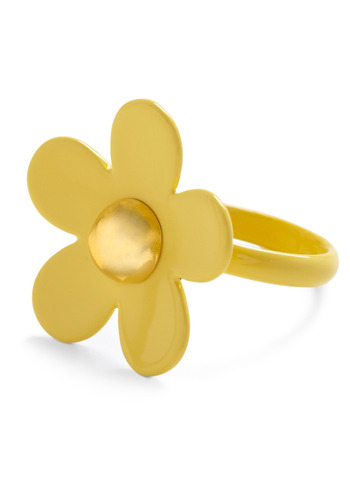 Make My Daisy Ring - Yellow, White, Studs, Casual