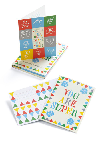 You Are Super Stationery Set by Chronicle Books - Multi, Red, Yellow, Green, Blue, Novelty Print